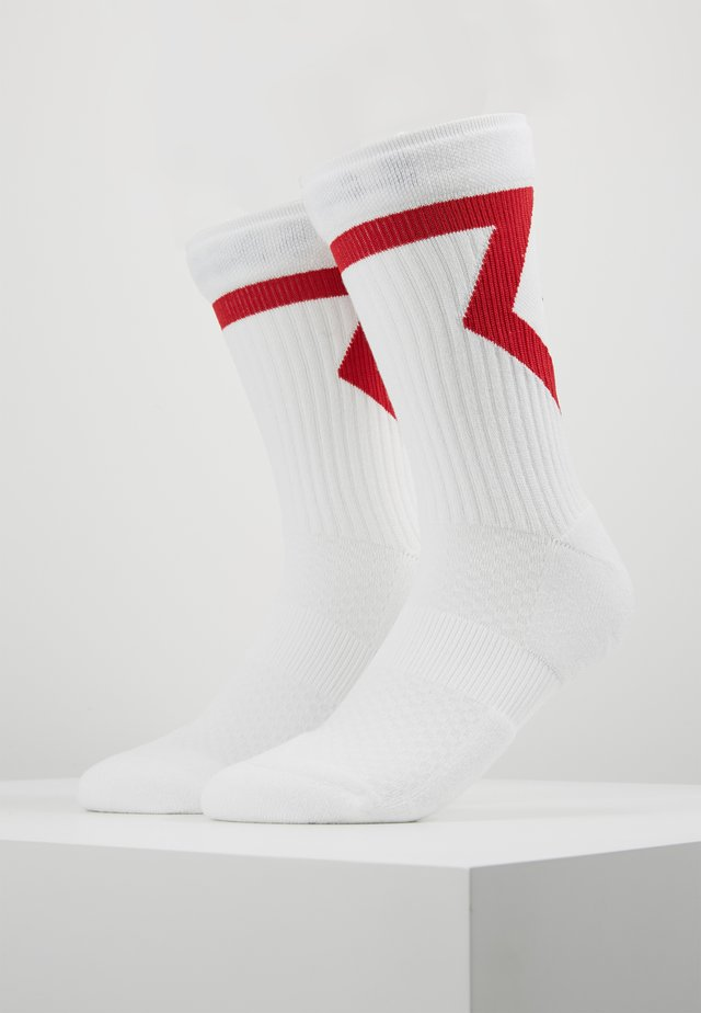 LEGACY CREW 2 PACK - Sports socks - white/gym red/black