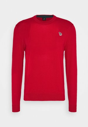 MENS CREW NECK ZEBRA - Jumper - red