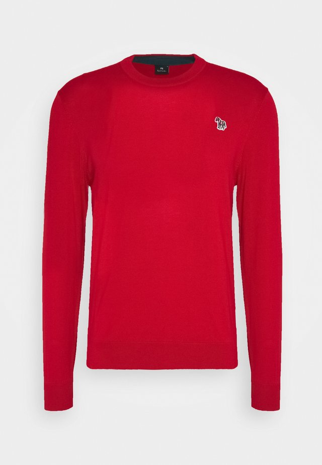 MENS CREW NECK ZEBRA - Strikkegenser - red