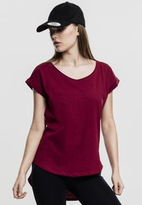 Urban Classics - SLUB TEE - Basic T-shirt - burgundy - 3