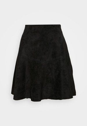 VIVISO SHORT SKIRT - A-line skjørt - black/gun metal