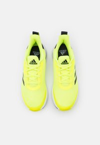 adidas Performance - FORTARUN UNISEX - Neutral running shoes - solar yellow/core black/footwear white - 3