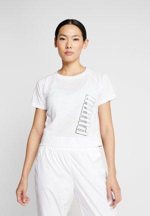LOGO ELASTIC TEE - T-shirt z nadrukiem - puma white