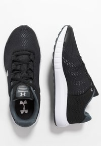 Under Armour - PURSUIT - Neutral running shoes - black/white/metallic silver - 1