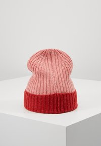 TINYCOTTONS - COLOR BLOCK BEANIE - Muts - pale pink/burgundy - 3