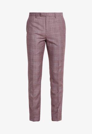 BUTLER SKINNY FIT SUIT TROUSER - Pantaloni eleganti - pink