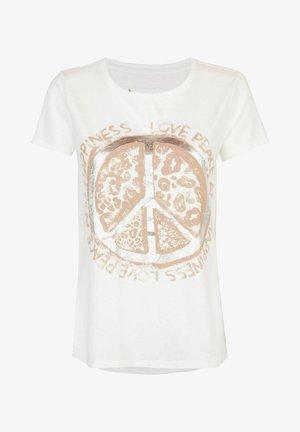 DALENIL - Print T-shirt - offwhite