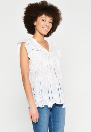 WITH BUTTERFLY SLEEVES - Blouse - white