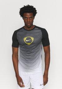 Nike Performance - ACADEMY - T-shirt print - black/white - 0