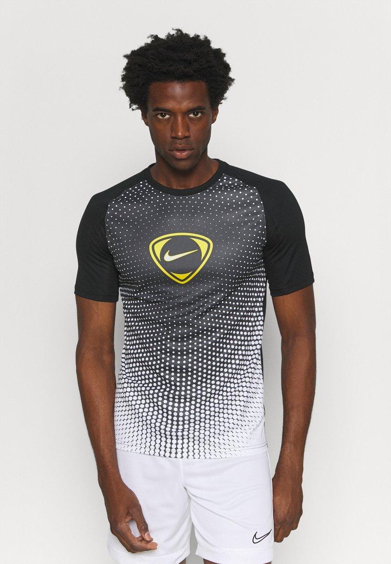 Nike Performance - ACADEMY - T-shirt print - black/white