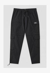 PULL&BEAR - Cargo trousers - black - 5