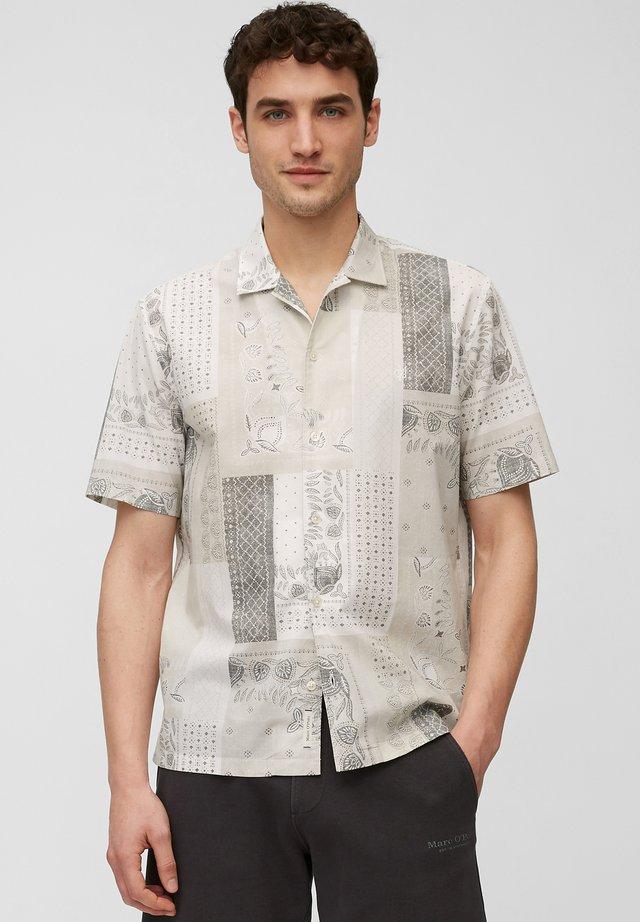 Shirt - multi/linen white
