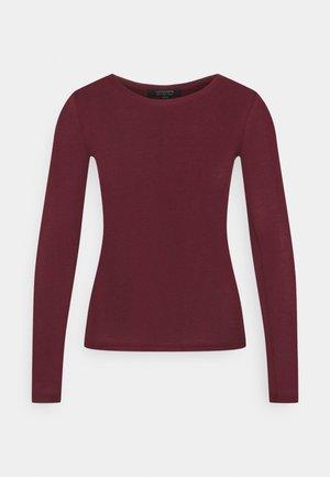 FRANCESCO RAMSKULL TEE - Top sdlouhým rukávem - burgundy red