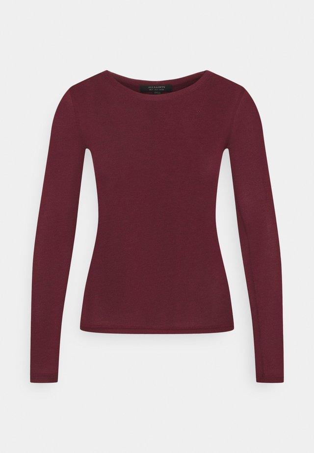 FRANCESCO RAMSKULL TEE - Long sleeved top - burgundy red