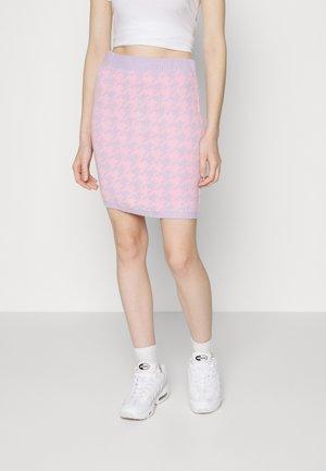 HOUNDSTOOTH SKIRT - Minisukně - pink