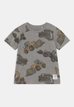 NMMDONNISO - T-shirt print - grey melange