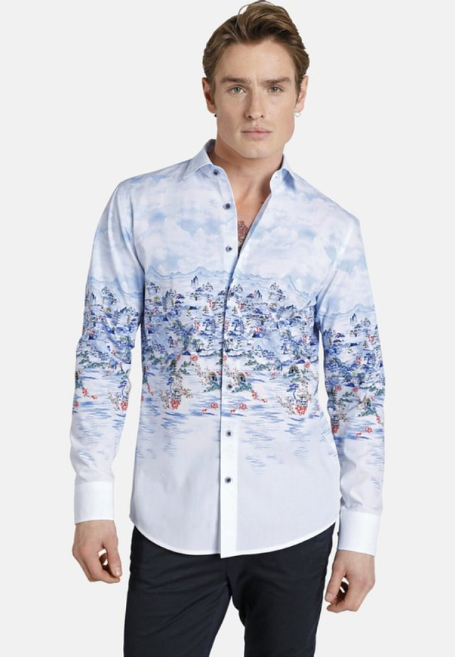 CHINESEBEAUTY - Shirt - light blue patterned