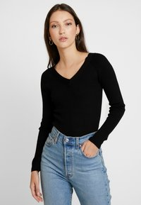 JDY - JDYPIPPA TREATS V NECK - Jumper - black - 0