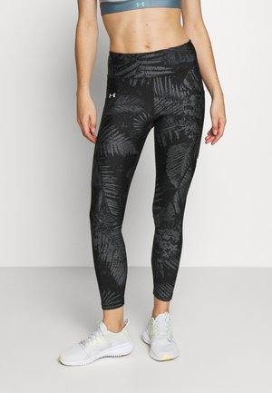 PROJECT ROCK PRINTED ANKLE CROP - Tights - black/summit white