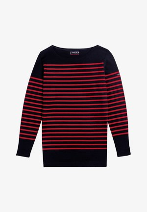 Long sleeved top - rich navy braise