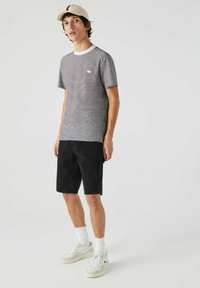 Lacoste - Print T-shirt - weiß / navy blau - 0