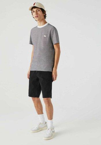 T-shirt print - weiß / navy blau