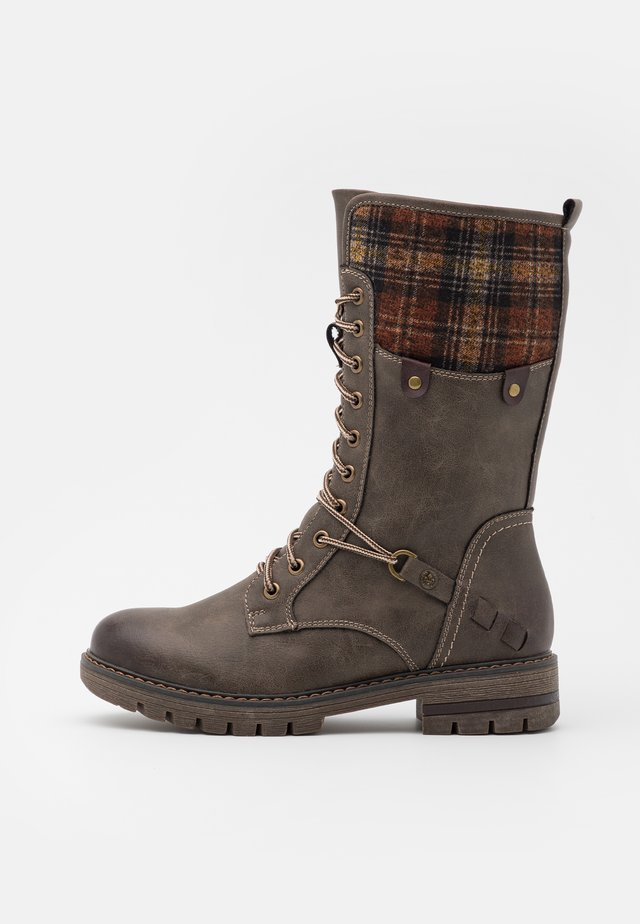 Lace-up boots - basalt/whisky