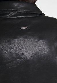 Pepe Jeans - FLORES - Faux leather jacket - black - 4