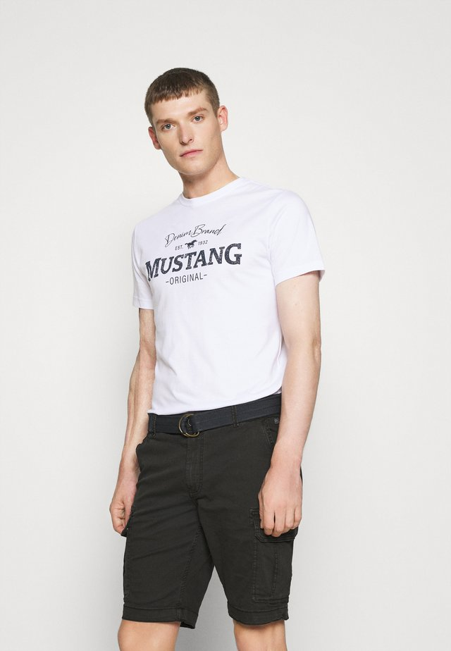 ALEX LOGO - Camiseta estampada - white