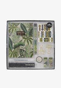 TYPO - DOT JOURNAL GIFT SET - Accessoires Sonstiges - fern foliage dark ground - 1