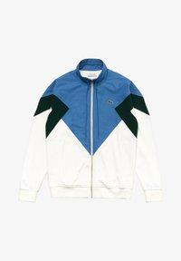 Lacoste - veste en sweat zippée - white/green/blue - 4