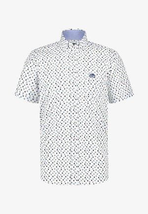 Overhemd - cobalt/sand