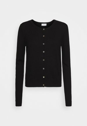 SOFT WOOL BLEND - Cardigan - black