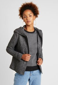 ONLY - ONLSEDONA LIGHT SHORT JACKET - Lett jakke - dark grey melange - 0