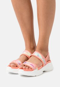 Steve Madden - SAMURAI - Platform sandals - coral/multicolor - 0