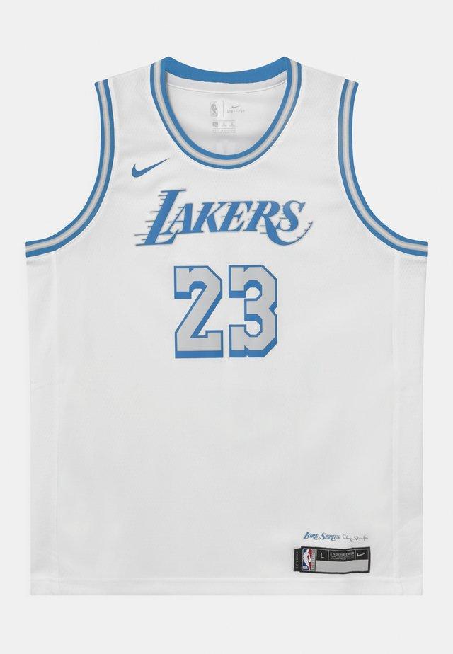 NBA CITY EDITION LEBRON JAMES LA LAKERS UNISEX - Klubbkläder - white