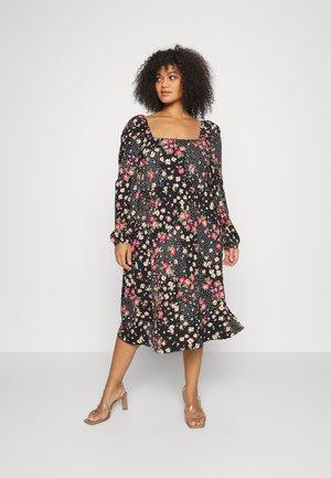 MIDI DRESS - Jersey dress - black