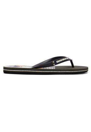 MOLOKAI JUNGLE SWELL - Pool shoes - black/white/black