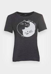 Mavi - CATS PRINTED TEE - Print T-shirt - phantom - 3