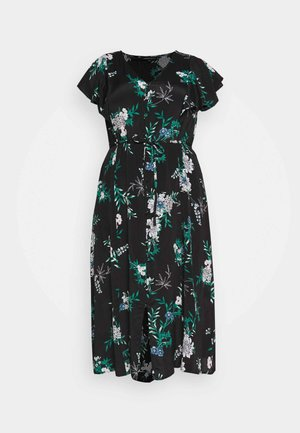 TIE BACK MIDI DRESS - Vestido informal - navy