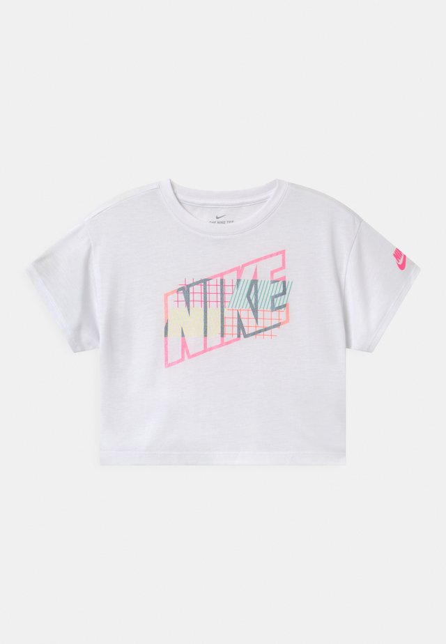 SHORT SLEEVE DRAPEY GRAPHIC - Print T-shirt - white