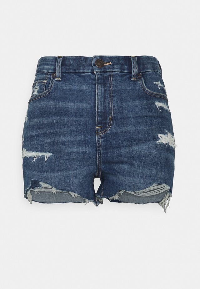CURVY SHORTIE - Farkkushortsit - medium tinted