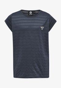 Hummel - T-shirt print - ombre blue - 0