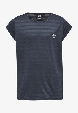 Print T-shirt - ombre blue