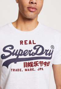 Superdry - PREMIUM GOODS HEAT SEALED TEE - Print T-shirt - ice marl - 4