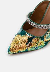Kurt Geiger London - DUKE - Pantofle na podpatku - green - 5