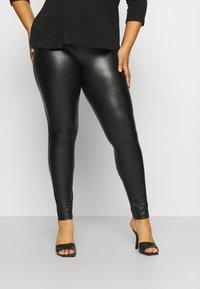 ONLY Carmakoma - CARHANNA - Leggings - Trousers - black - 0