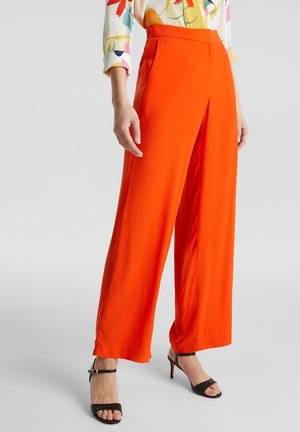 CRÊPE - Trousers - red orange