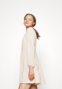Closet - HIGH COLLAR MINI DRESS - Day dress - beige - 4