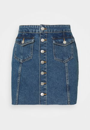 ONLLAGUNA LIFE BUTTON - Mini skirt - medium blue denim